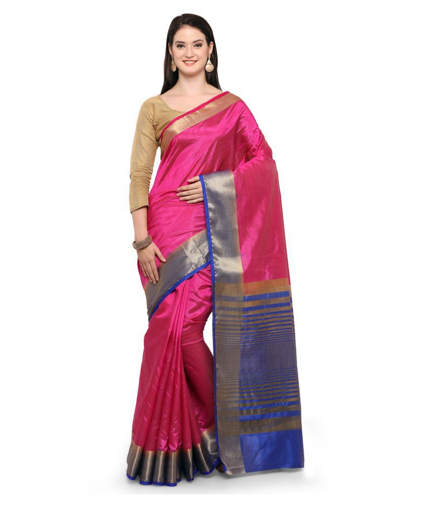 Aradhya Pink Cotton Silk Saree