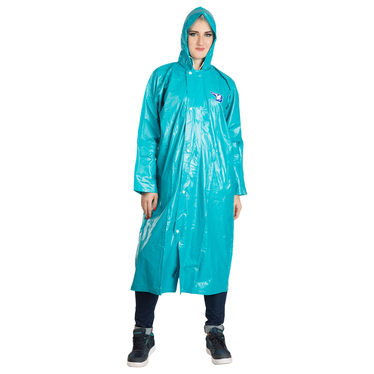 BURDY Waterproof Long Raincoat - Green