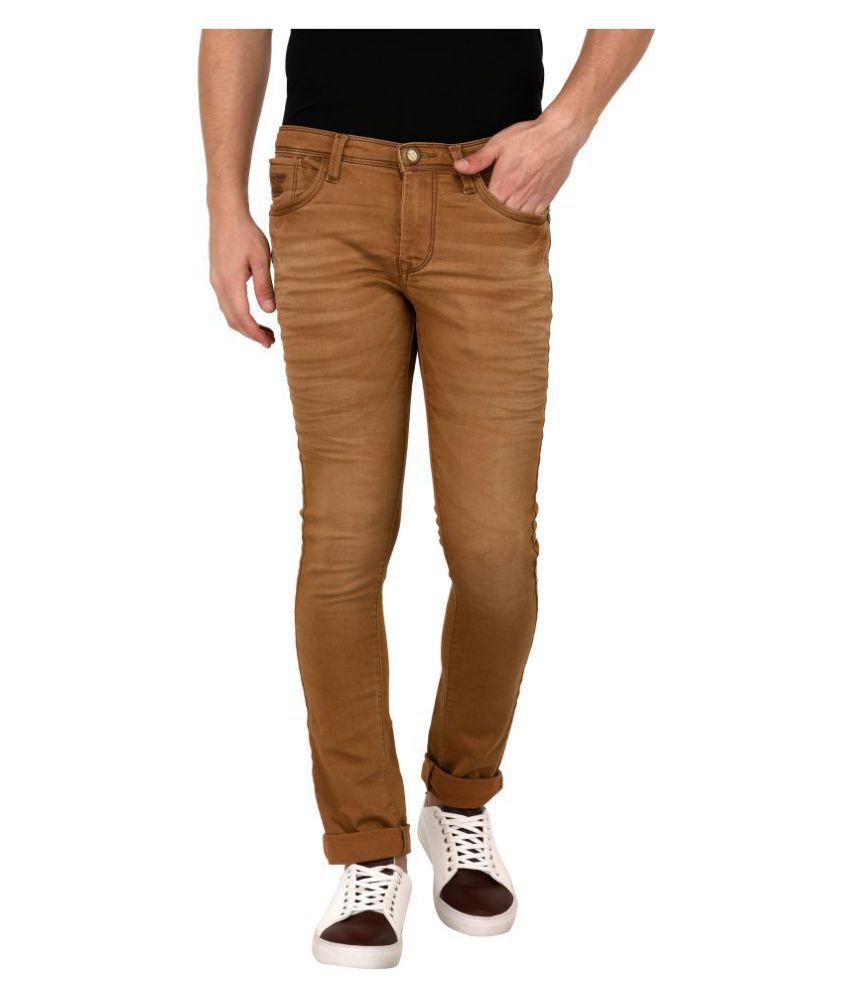 AFOX Khaki Slim Jeans