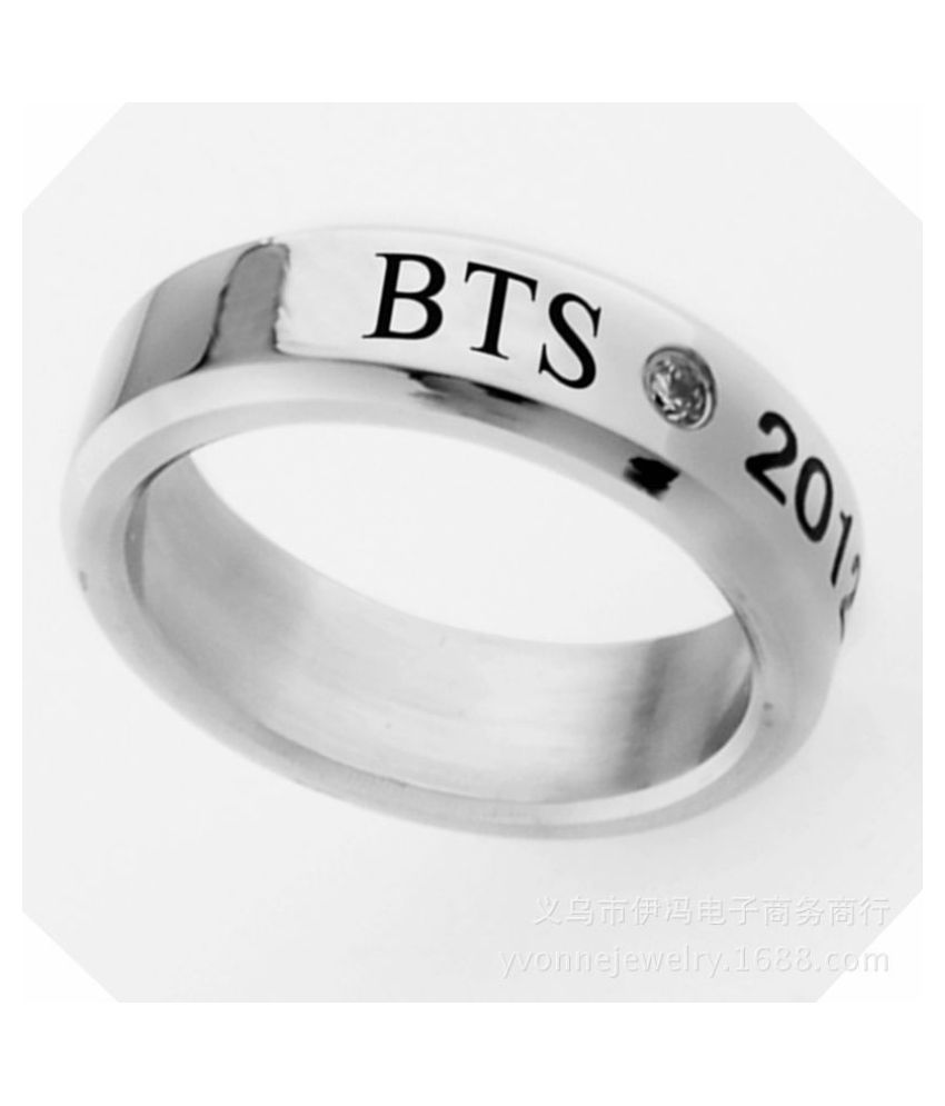 Kpop BTS Album Bangtan Boys Discoloration Name Titanium Steel Rings   Fan s Finger Ring  Ring Necklace Jewelry