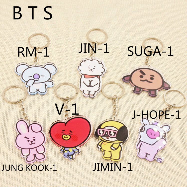 Kpop Star Bts Bt21 Jung Kook Suga V Bts Keychain Buy Online At Low