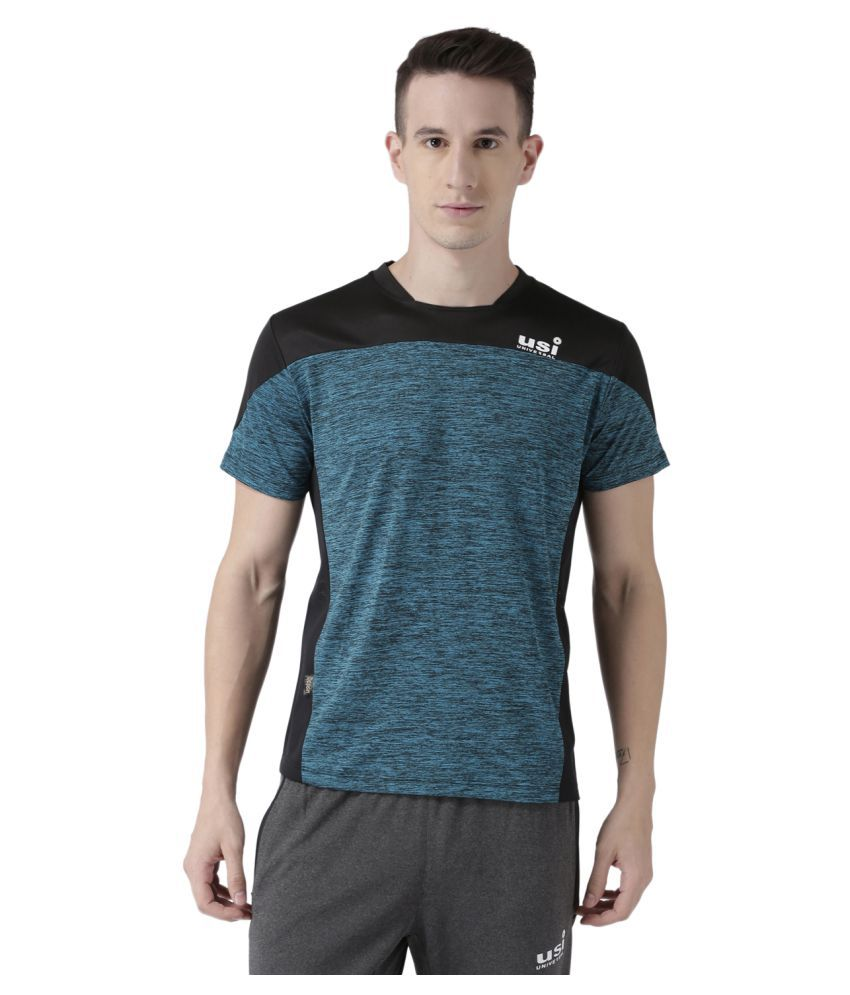 USI Universal Blue And Black Training T-Shirt