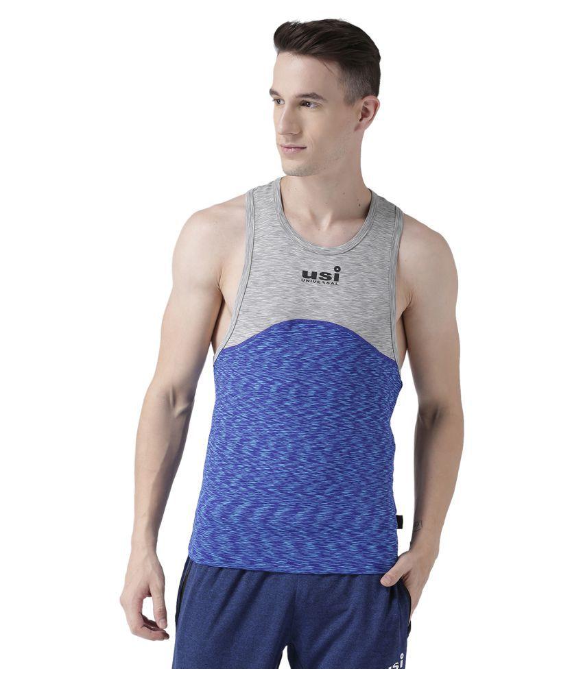 USI Universal Blue And Grey Training T-Shirt
