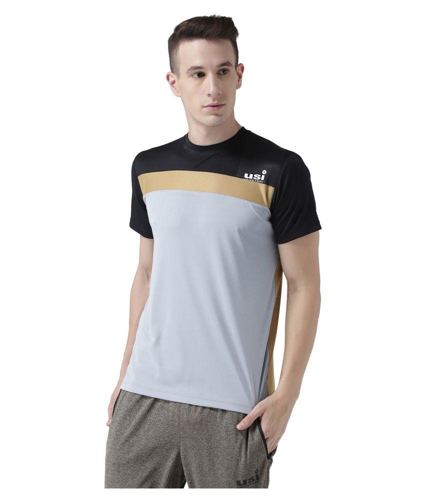 USI Universal Grey, Gold And Black Training T-Shirt