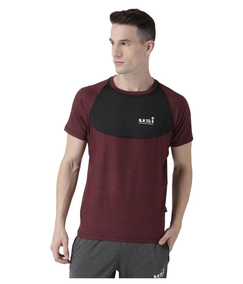 USI Universal Mehroon Training T-Shirt