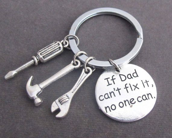 If Dad Can''t Fix It No One Can Hand Tools Keychain,Daddy Keyring,Gift For Dad,Dad Gift,Fathers Day,Father Keychain