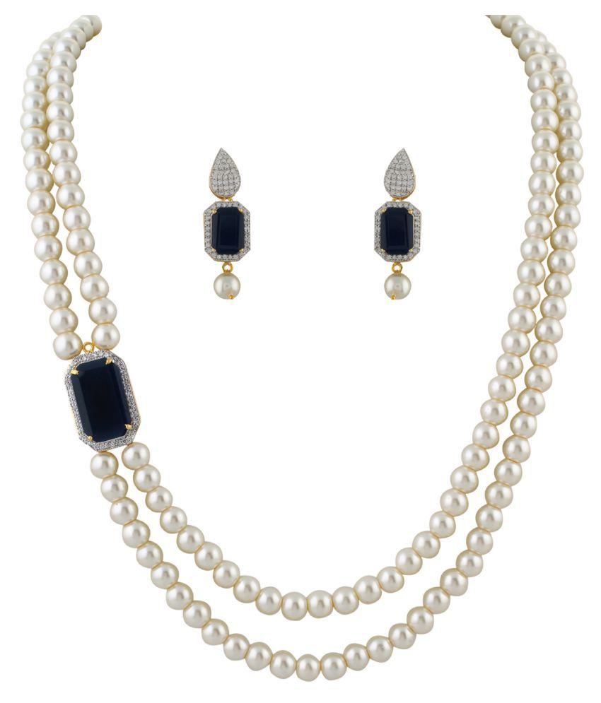 ClassiqueDesigner Flower Shape Pearl Set (cp1346)