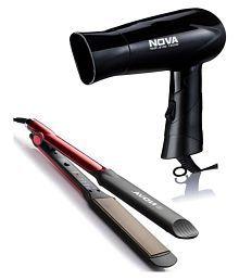 Nova NHS 870 hair straightener & NHP 8100 hair dryer combo
