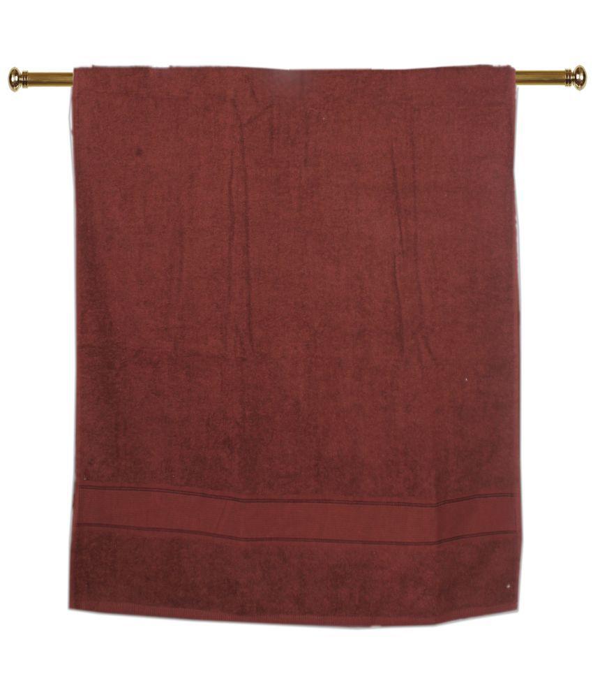 Aransa Single Cotton Bath Towel Brown