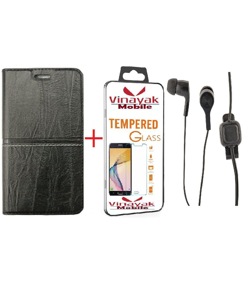 Xiaomi Redmi Y1 Lite Cover Combo by VinyakMobile RICH BOSS Flip Cover With Tempered Glass