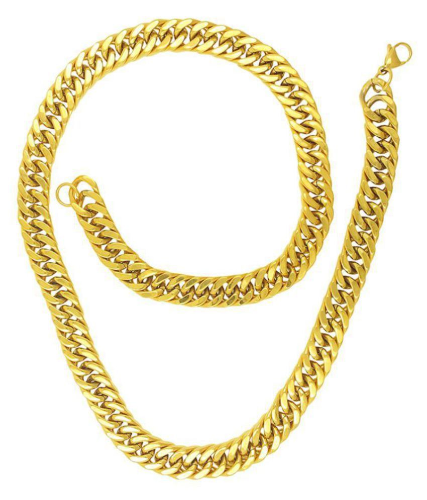 Saizen CH270 Cool Gold Tone Chain with Smooth Finish For Men, Boyfriend & Husband