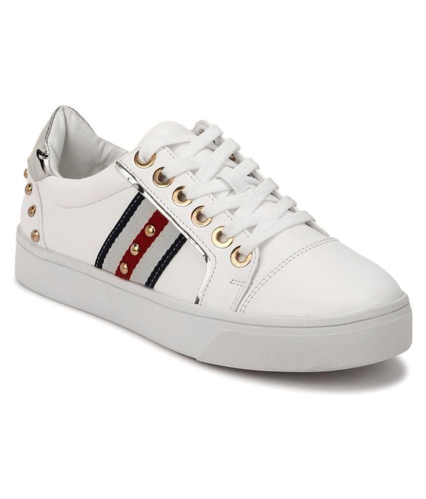 Truffle Collection White Casual Shoes