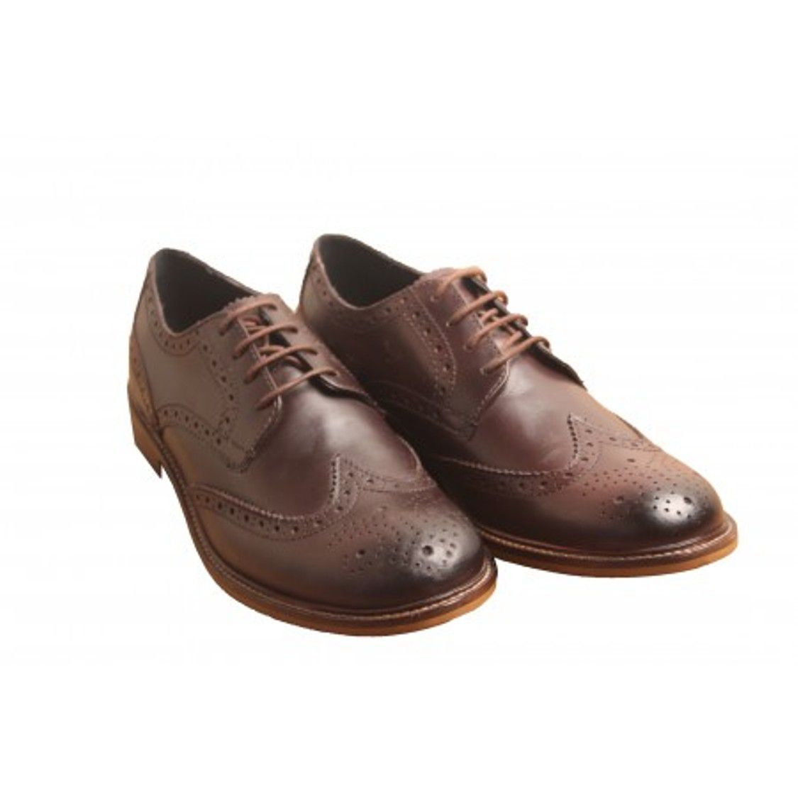 Aarmish Brogue Genuine Leather Brown Formal Shoes