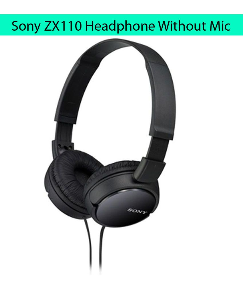 Sony MDR-ZX110 On Ear Wired Headphones Without Mic Black