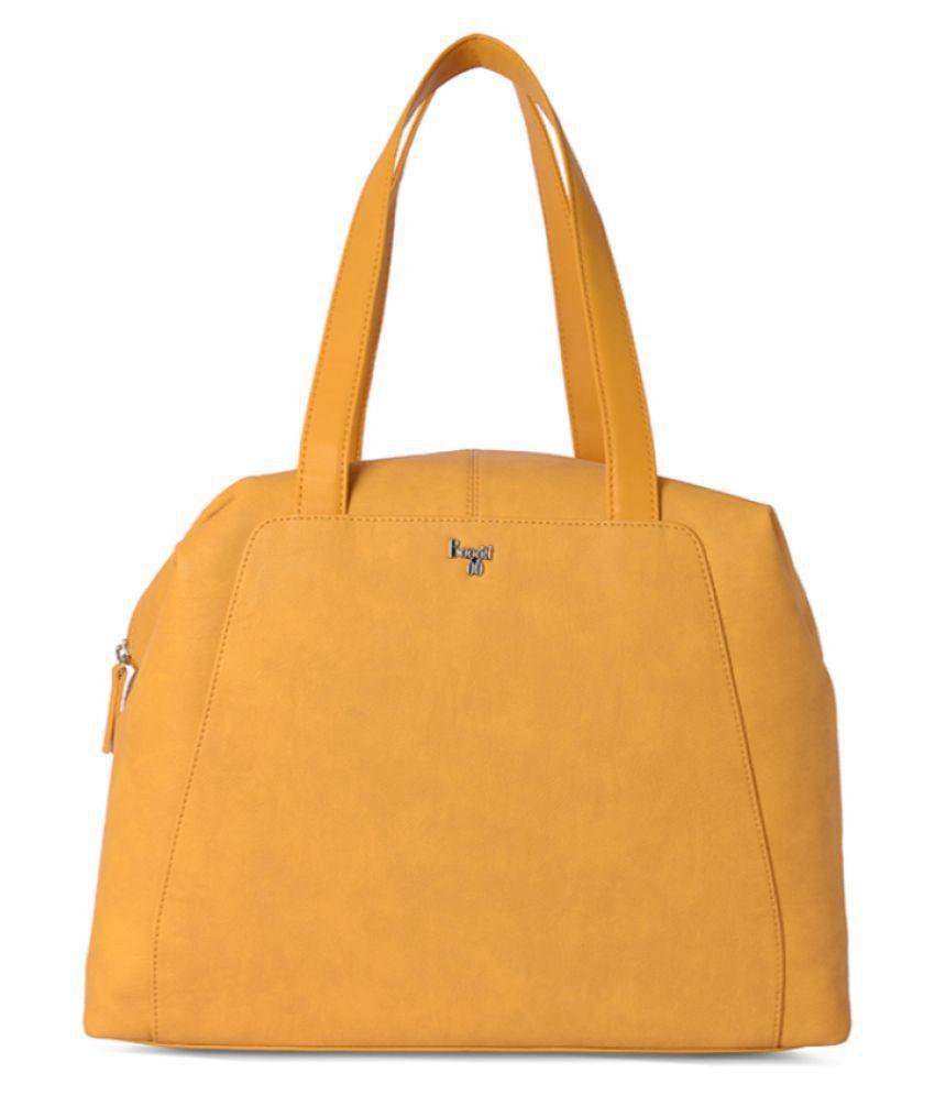 Baggit Yellow P.U. Shoulder Bag