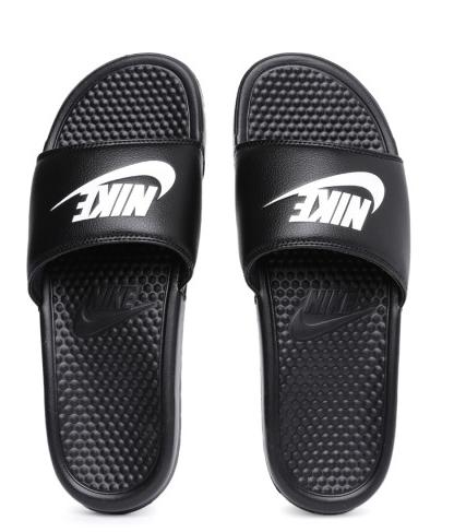 95630c4912b1 Nike Black Slide Flip flop Price in India- Buy Nike Black Slide Flip flop  Online at Snapdeal