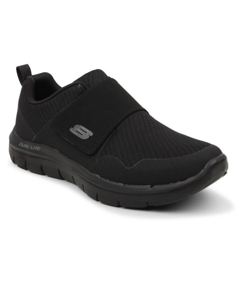 a4642b516b4 Skechers Men 52183 FLEX ADVANTAGE 2.0- GURN Black Running Shoes