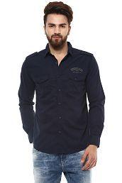 Mufti Navy Slim Fit Shirt