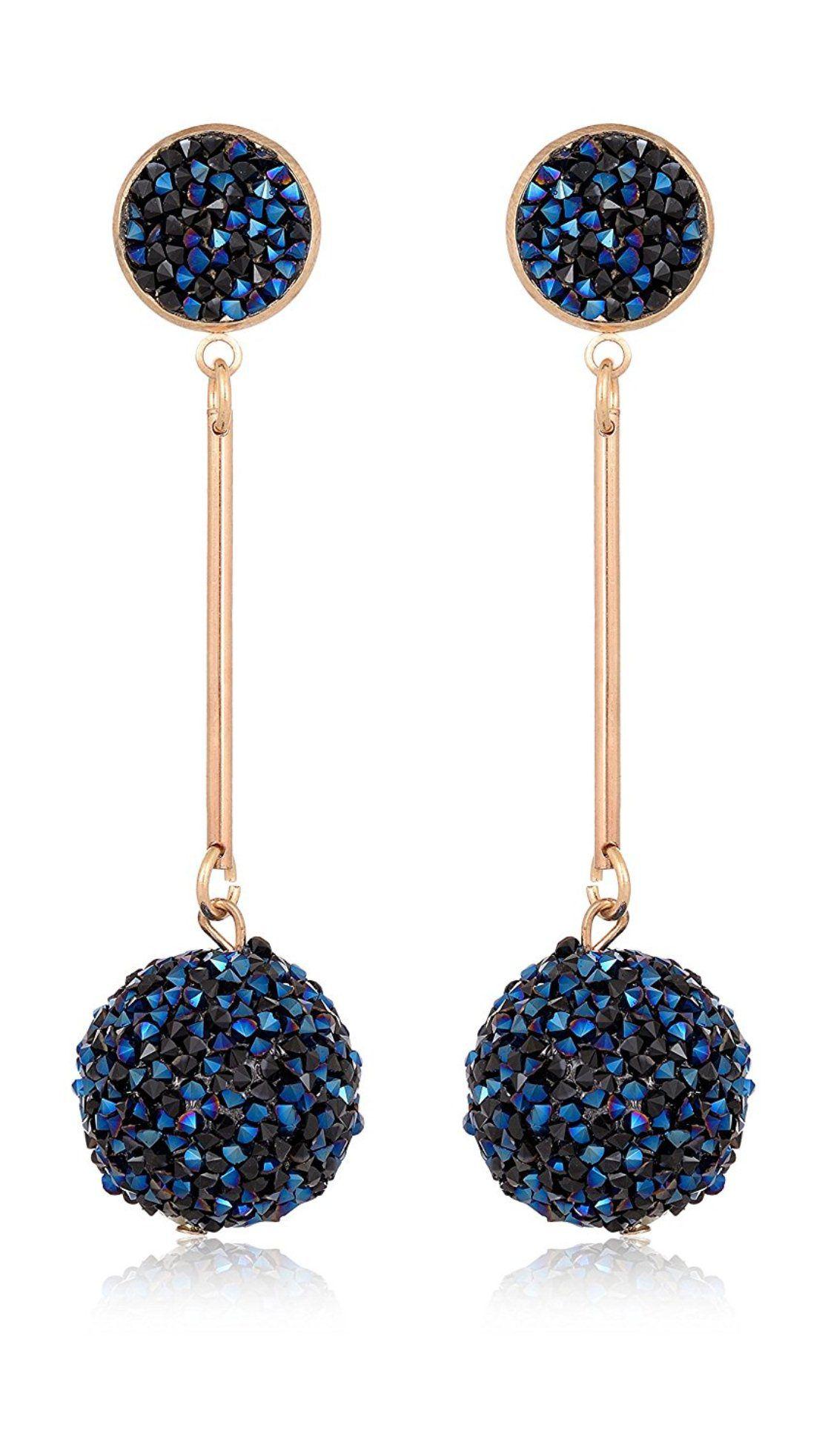 Fab Jewel Fashionable Blue Crystal Fancy Party Wear Earrings for Girls & Women