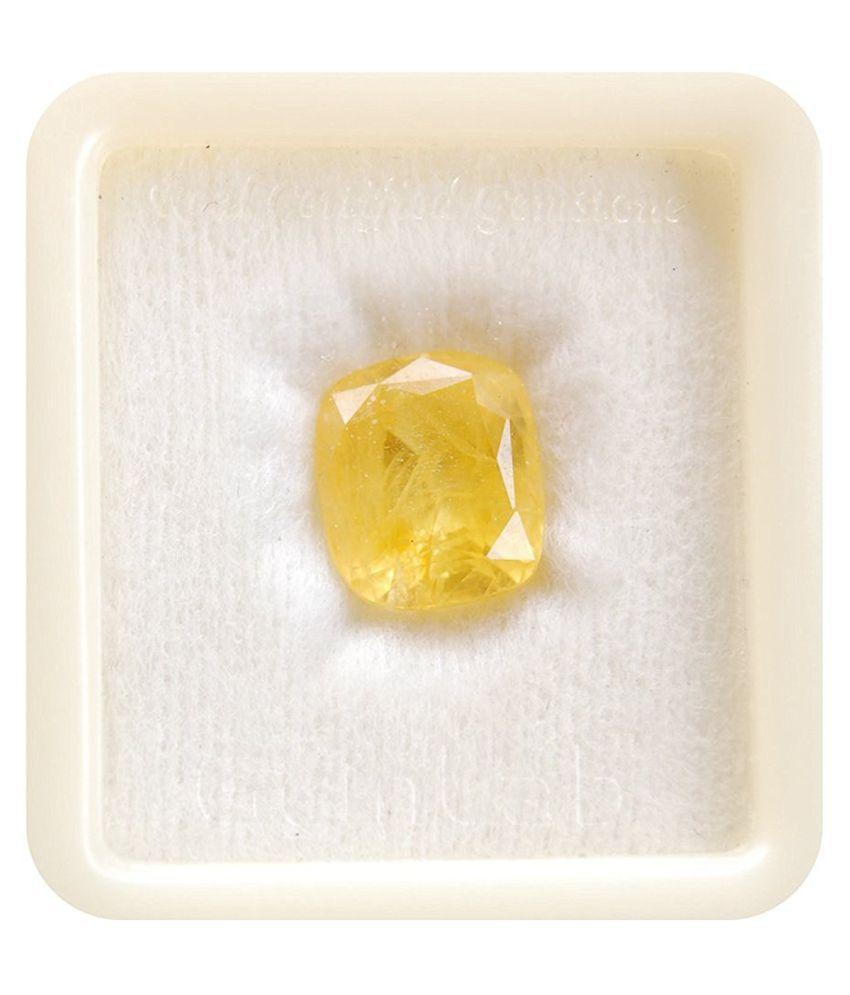 A1 Gems 9 - 9.5 -Ratti Self certified Yellow Sapphire (Pukhraj)
