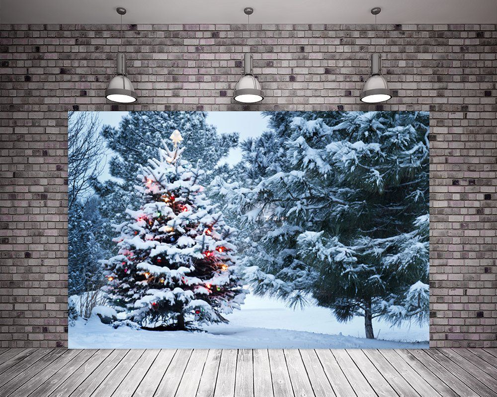 HMT 7X5ft (220cmX150cm)Christmas Tree Photo Booth Backdrop