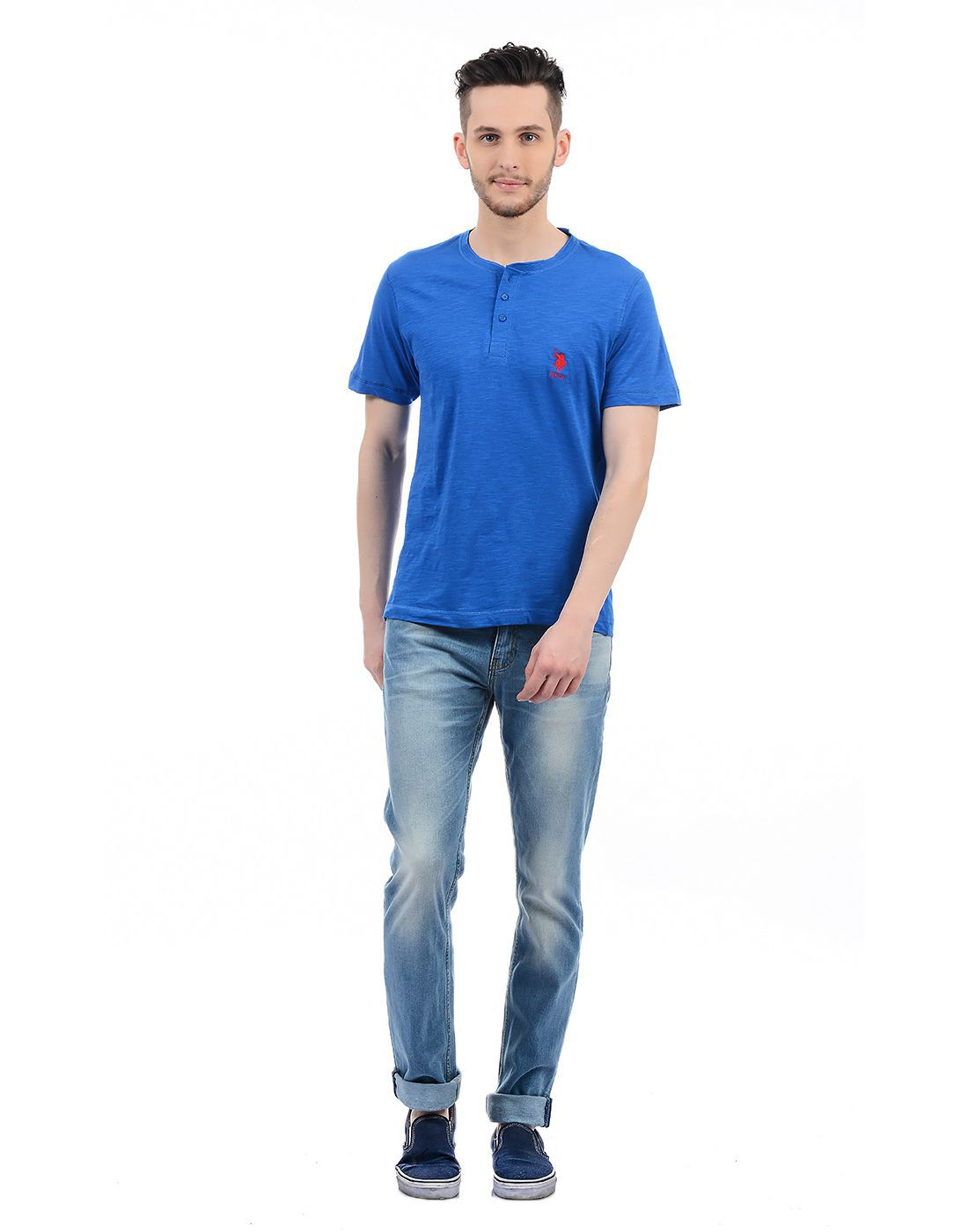 7415fb4458 U.s. Polo Assn. Blue Polo T Shirt