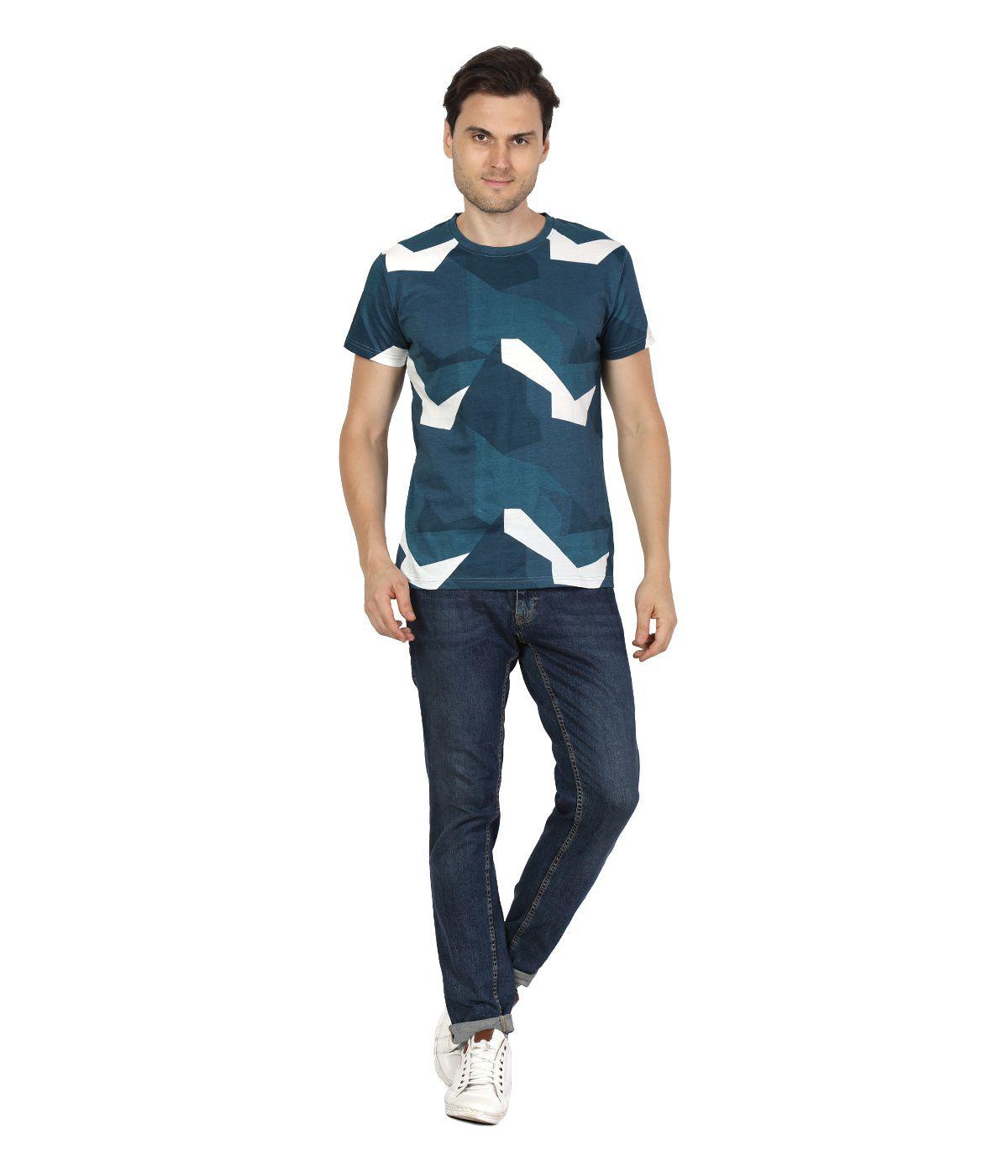 BlackBuk Turquoise Round T-Shirt Pack of 1