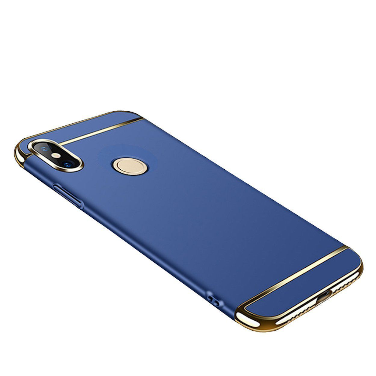 6a94f83da Xiaomi Redmi Note 5 Pro Shock Proof Case Avzax - Blue - Plain Back Covers  Online at Low Prices