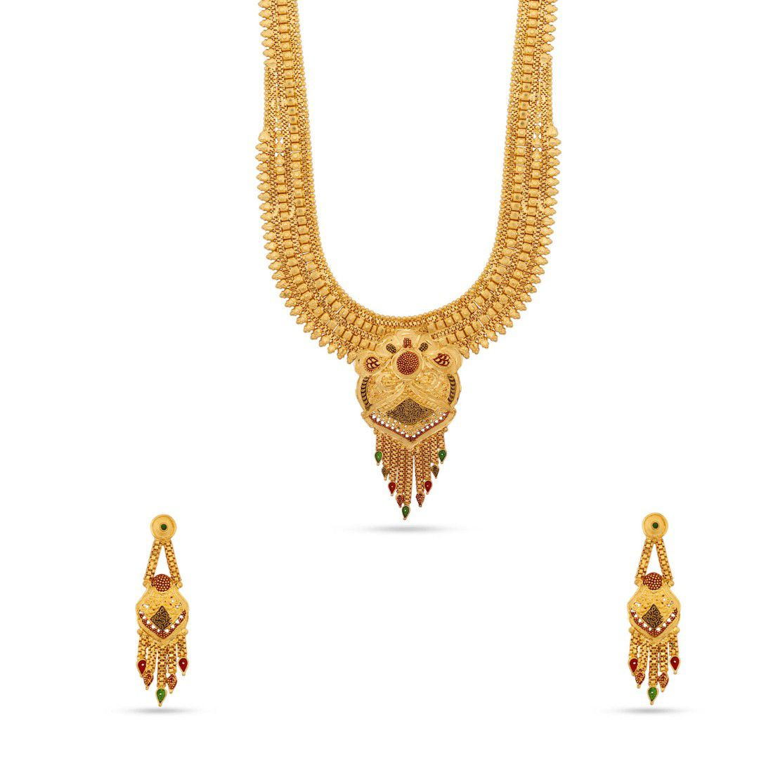 Jewlot Gold Plated Necklace Set for Women and Girls