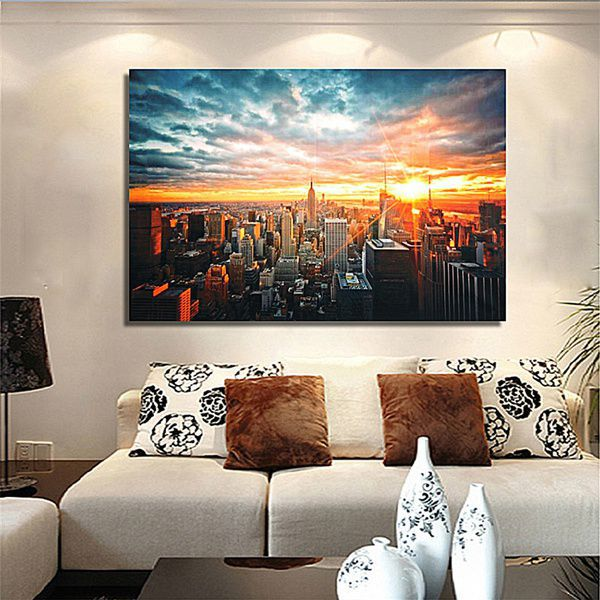 Sunshine City Digital Canvas Printing without Frame AHDCP-x51