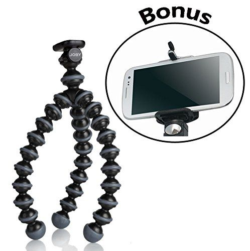 Gorillapod Flexible Tripod (black/charcoal) For Small & Compact Cameras And For The Samsung Galaxy Note 2, Note 3, Note 4, And For