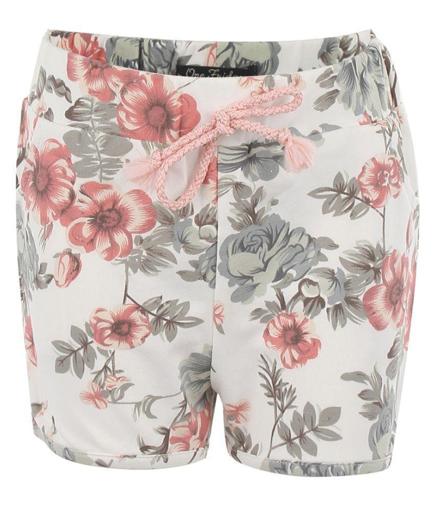 One Friday Girls Soft Cotton Printed Shorts