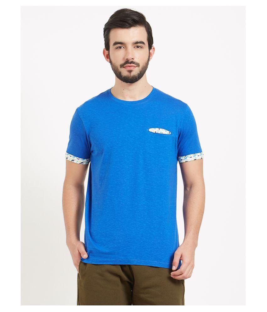BONATY Blue Round T-Shirt Pack of 1