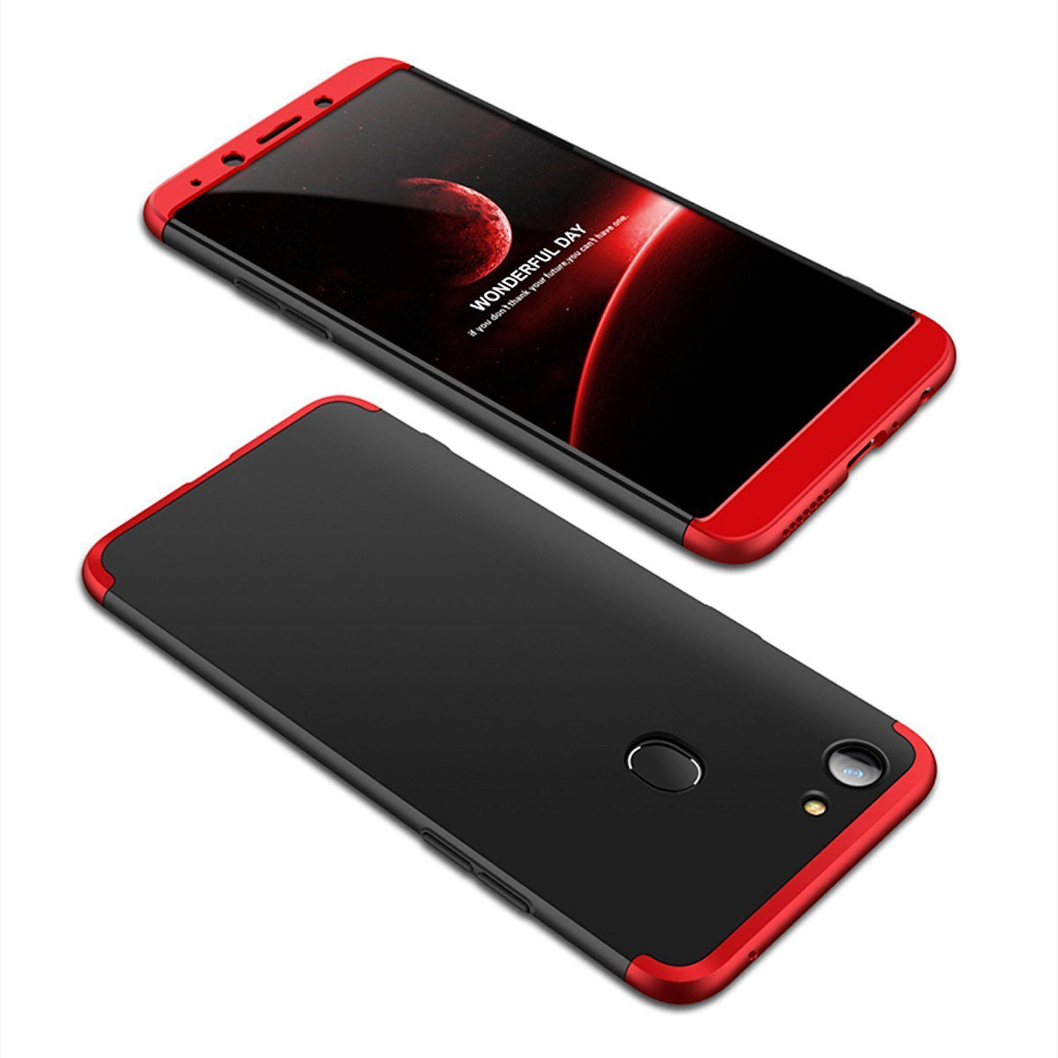 Oppo F7 Plain Cases 2Bro Red