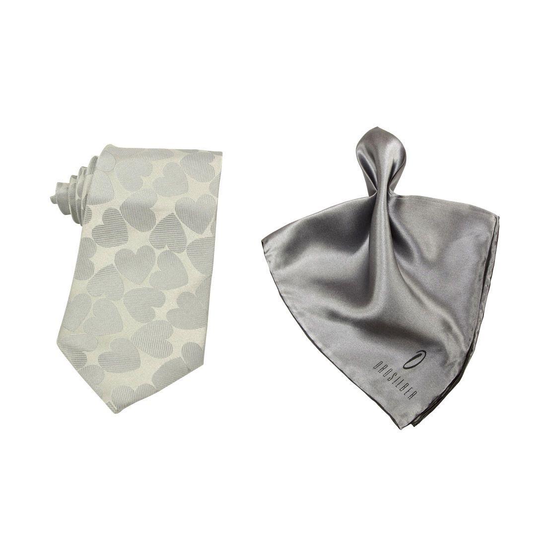 Orosilber Gray Printed Silk Combo