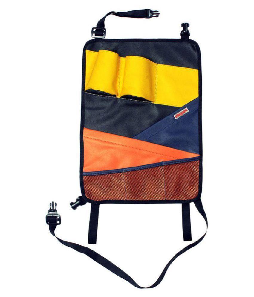 Elegant Multi Pocket Organizer for Headrest Multicolour