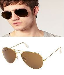 Ray Ban Sunglasses Brown Aviator Sunglasses ( rb 3025-56-14 )