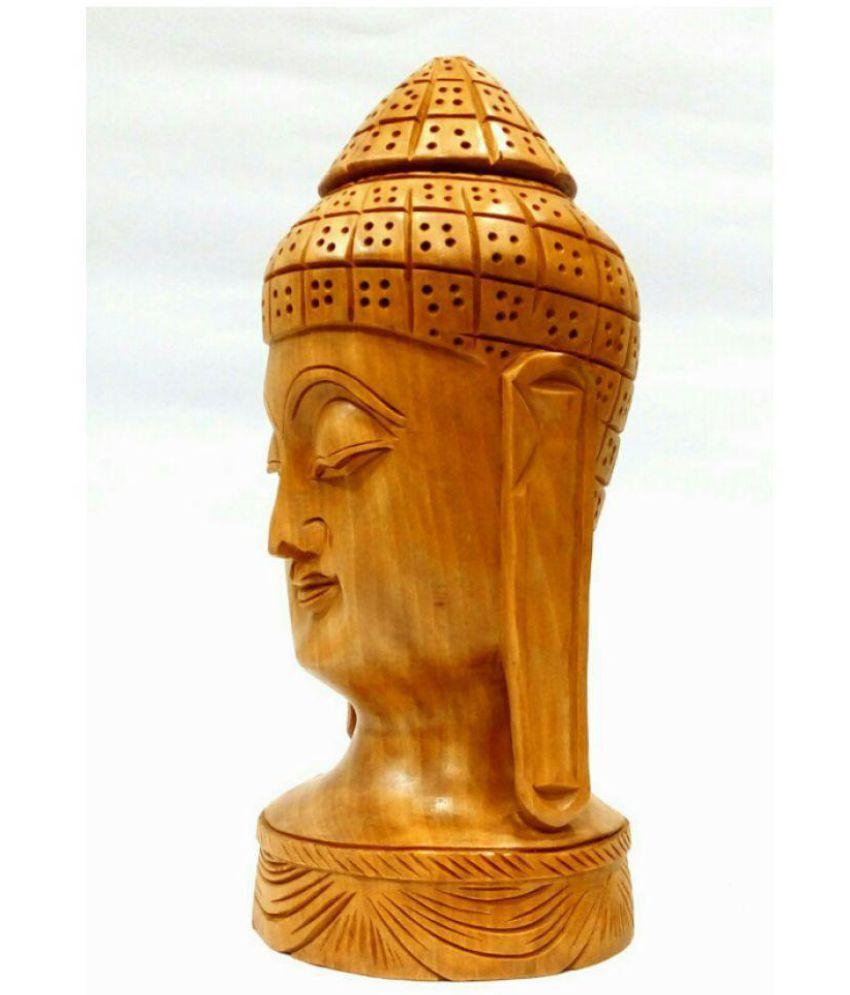 Arts Of India Buddha Wood Idol