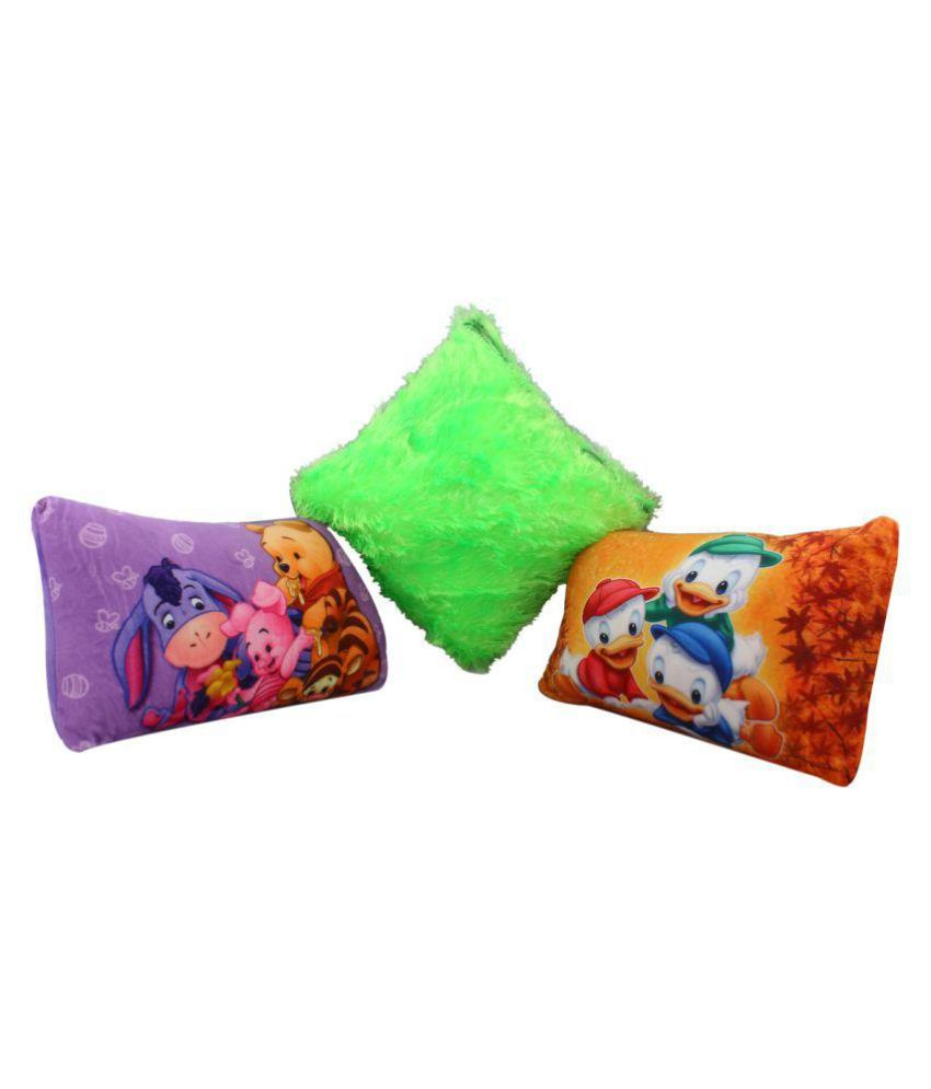 Galaxy World Multi-Colour Polyester Fibre Normal Baby Pillow Baby Pillow