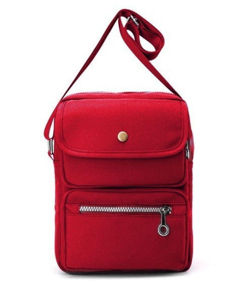 Guru Red Canvas Tote Bag