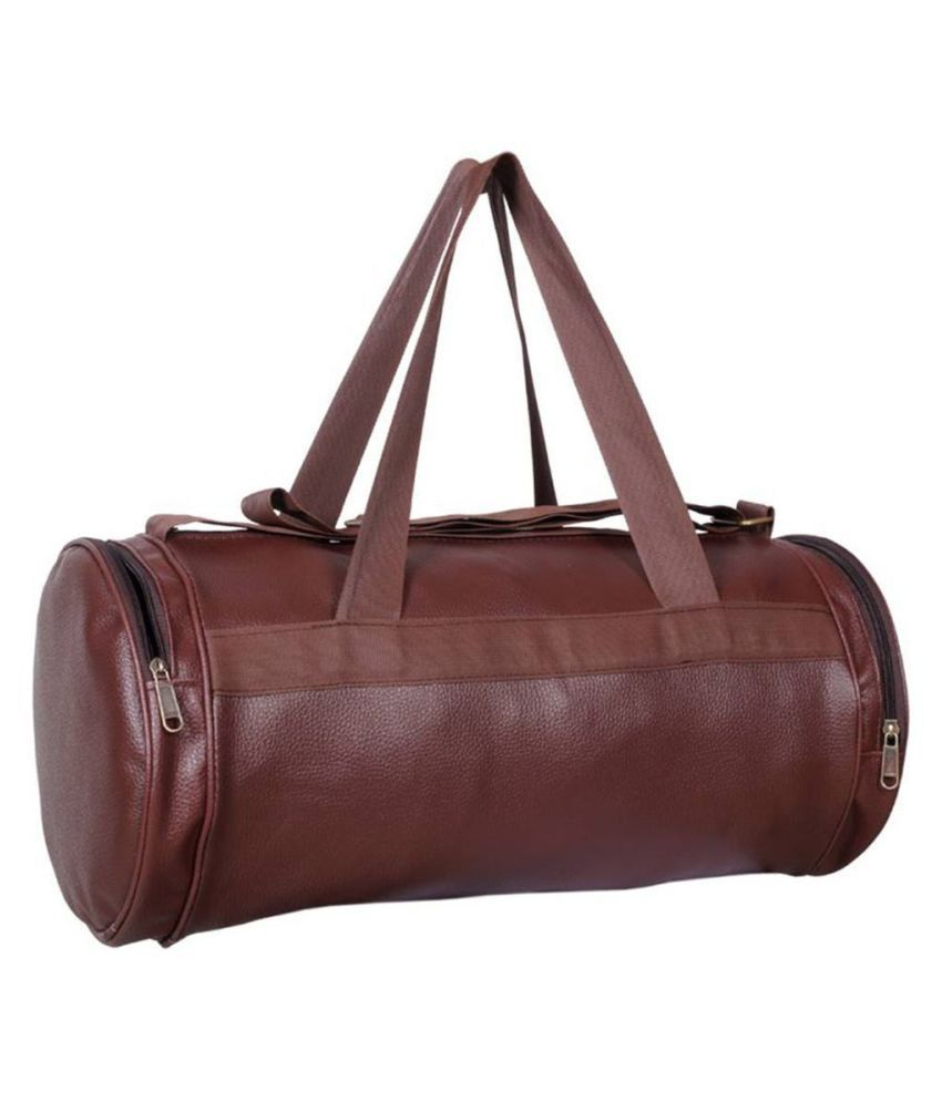 7b8991bdca72 IshMa Medium PU Leather Gym Bag/Travel Duffle Bag Cross Bag Leather Bag Men  Man Side Bag Gents Bag Men Side Bag Carry Bag Men