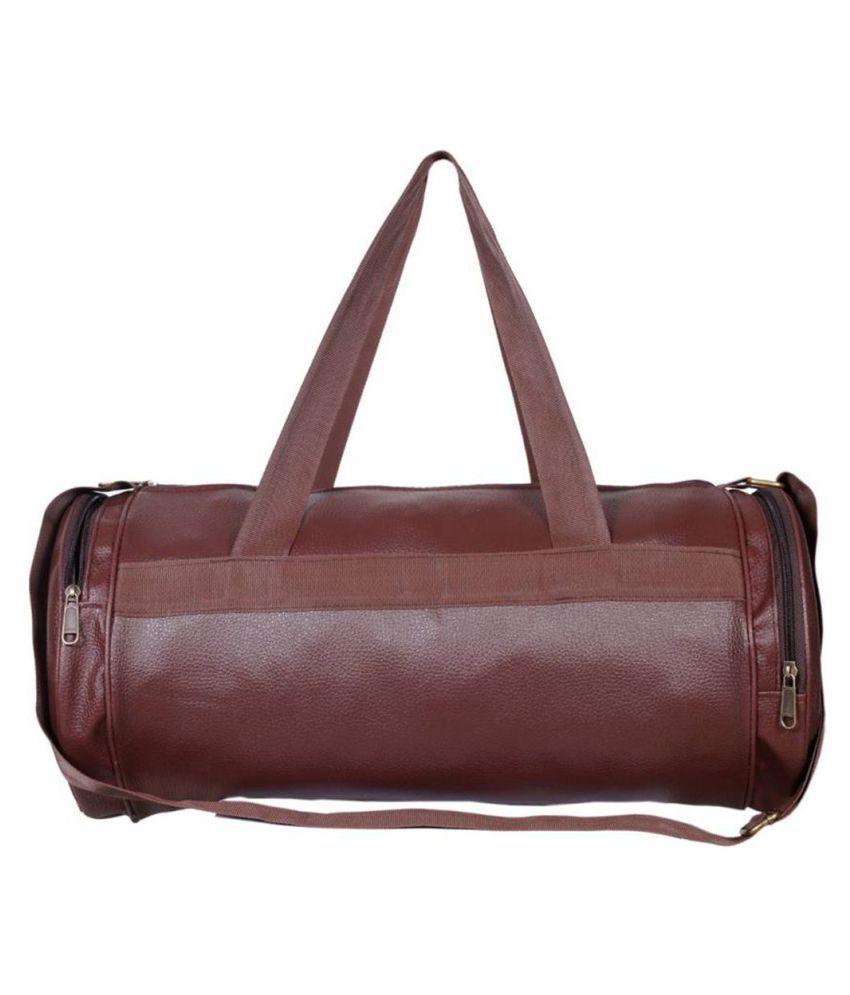 93e868e78740 IshMa Medium PU Leather Gym Bag/Travel Duffle Bag Cross Bag Leather Bag Men  Man Side Bag Gents Bag Men Side Bag Carry Bag Men