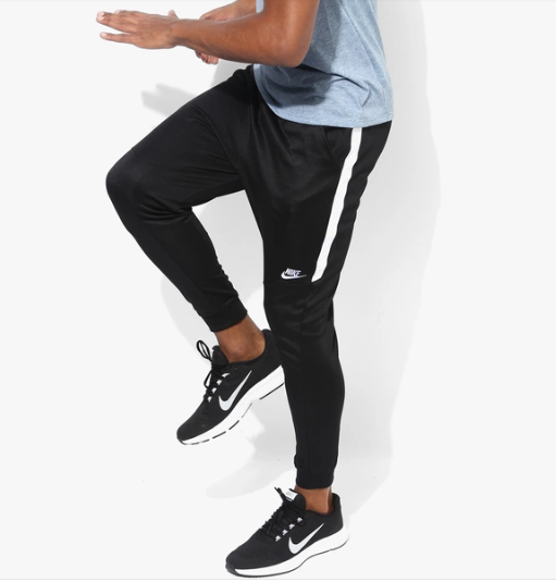 d82cf0f23 Nike Side Stripe Dry Fit Black Track Pants - Buy Nike Side Stripe Dry Fit  Black Track Pants Online at Low Price in India - Snapdeal
