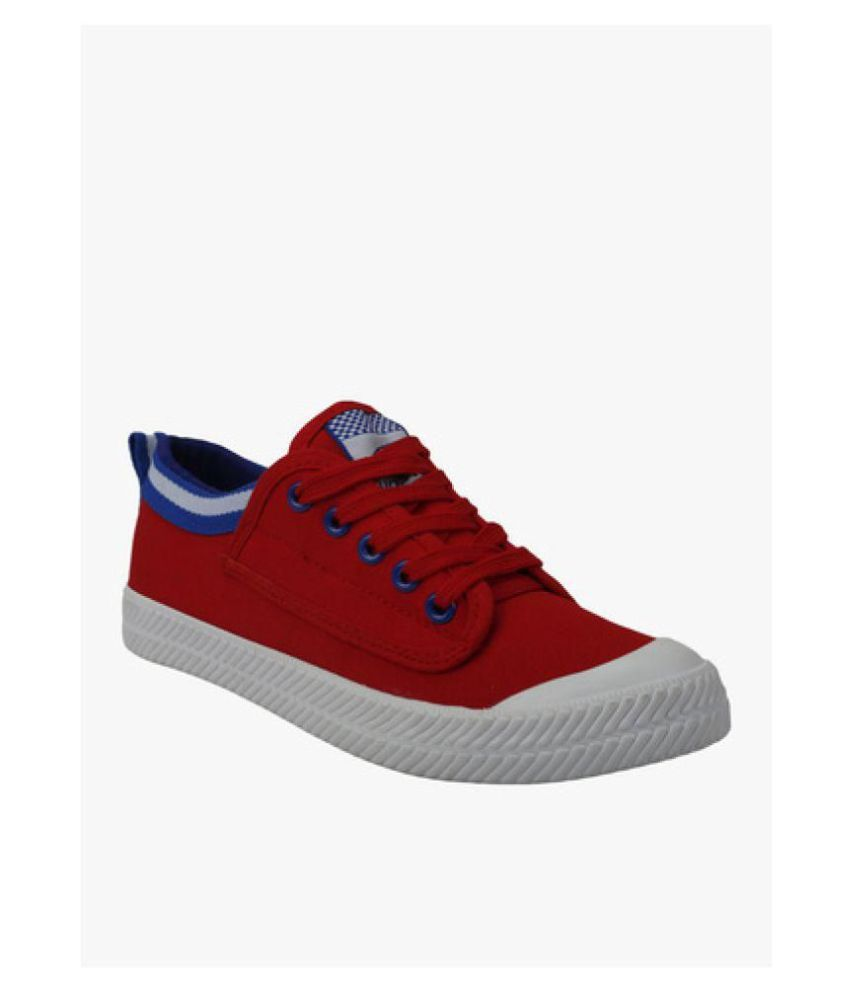 Vostro Red Casual Shoes