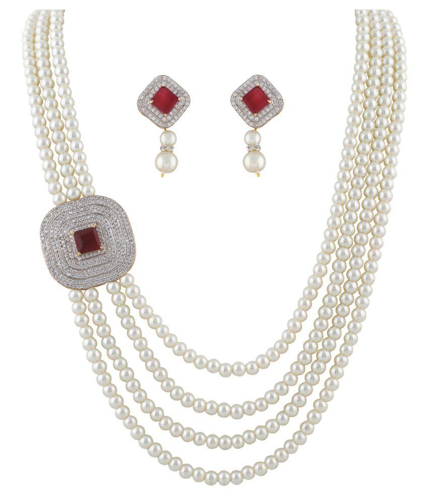 ClassiqueDesigner Flower Designed Pearl Set (cp1338)