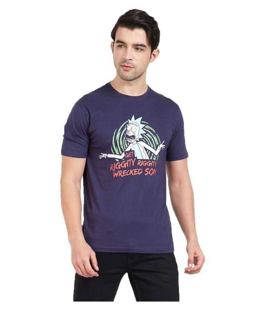 Redwolf Navy Round T-Shirt Pack of 1