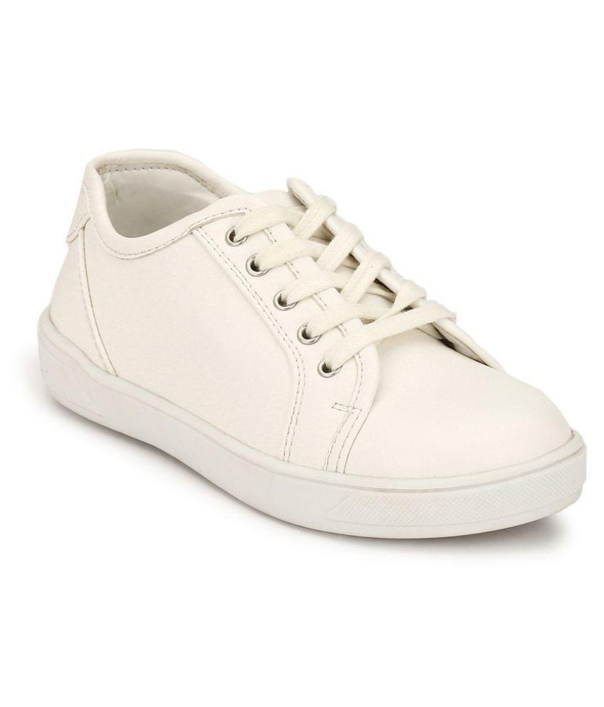 Hirels White Kids Sneakers
