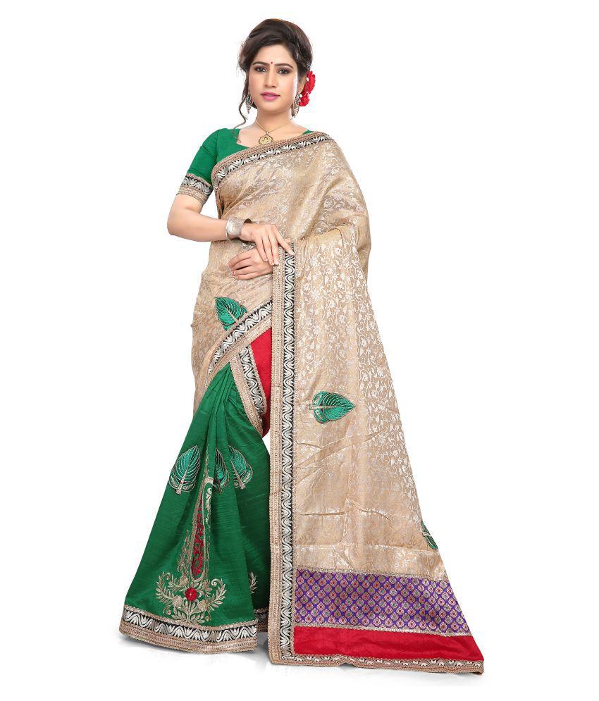 S. Kiran's Multicoloured Art Silk Mekhla Chador Saree