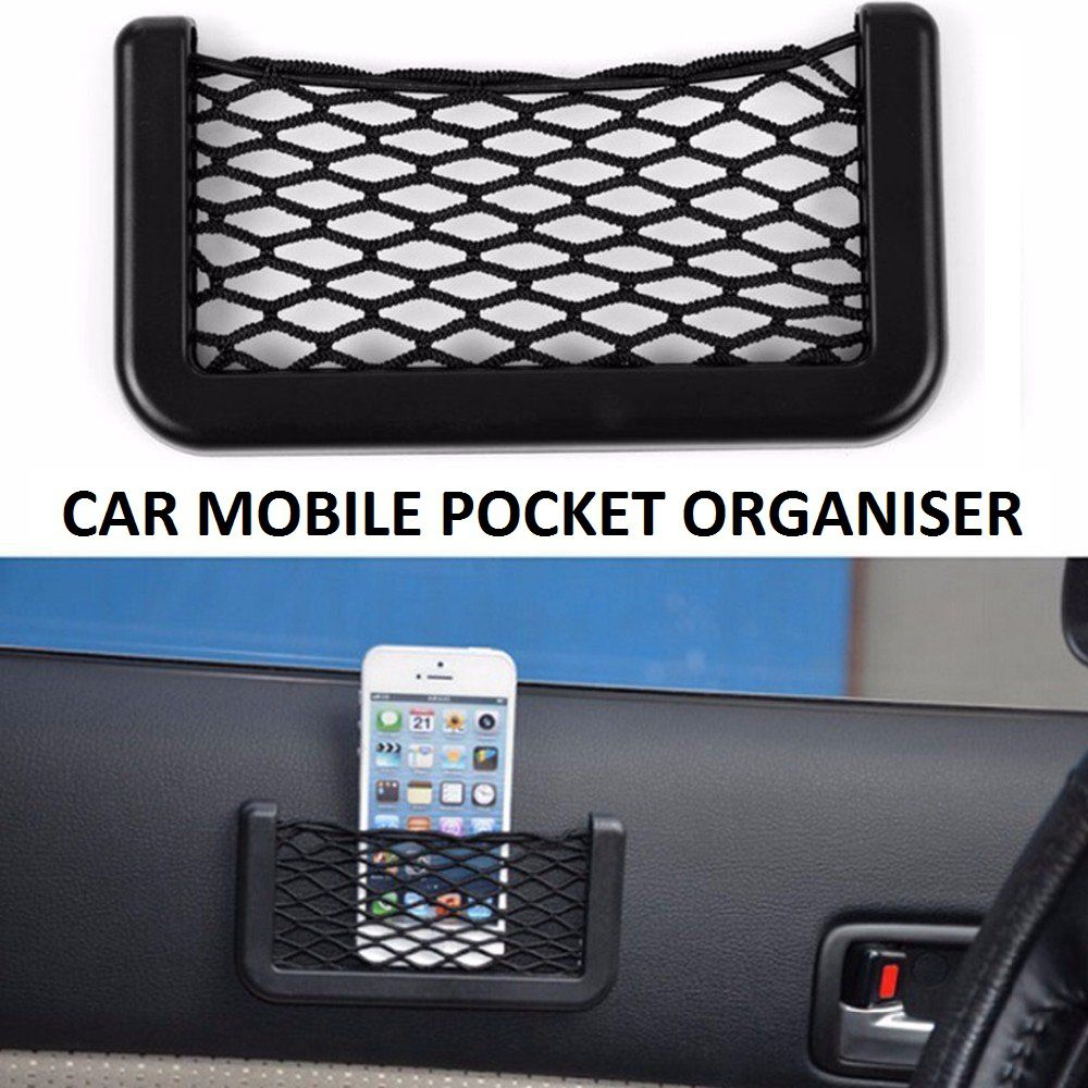 Car Net Bag Phone Holder Storage Pocket Organizer for Cellphone