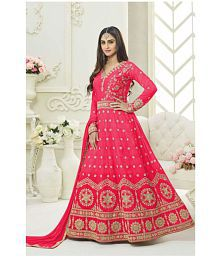 63e74c7d55 Quick View. Zofey Red and Pink Bhagalpuri Cotton Anarkali Semi-Stitched Suit